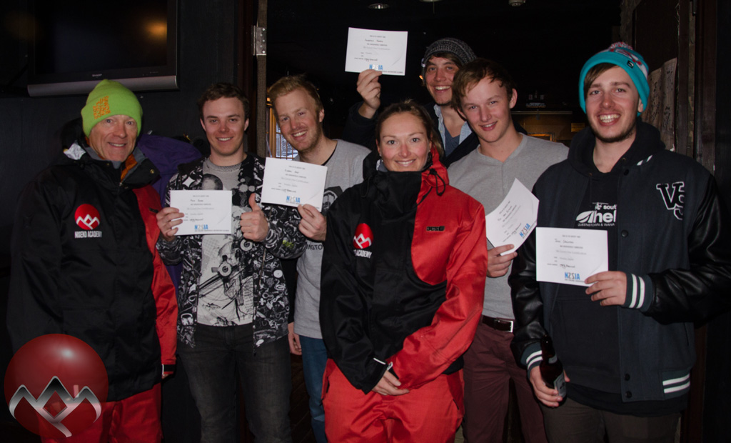 The ski trainees with their trainers Simon and Kirsty