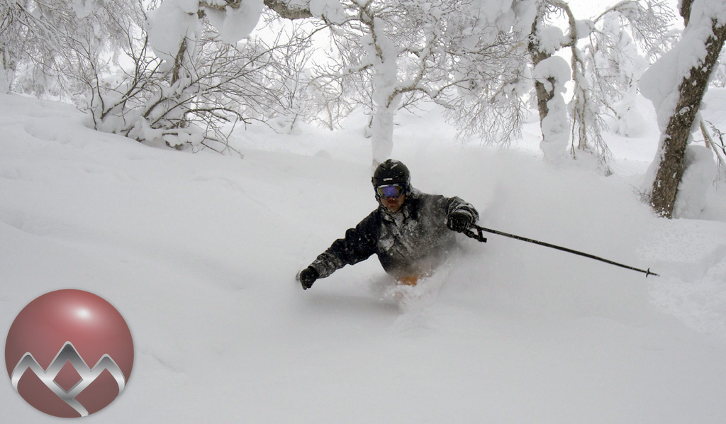 Canadian Dave looking strong in the deep snow