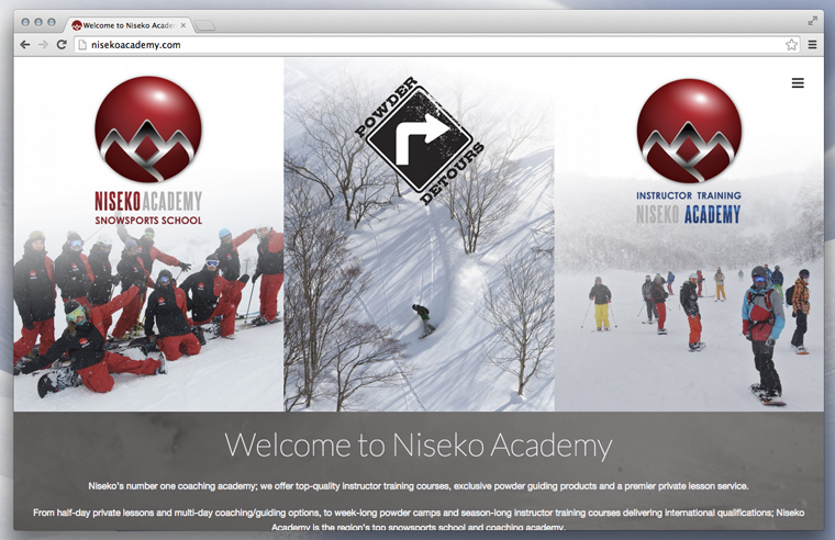 Niseko Academy portal site screen shot