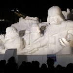 Star Wars sculpture at Sapporo Snow Festival