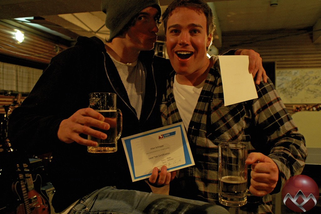 Happy fellas with their SBINZ Level Two certs